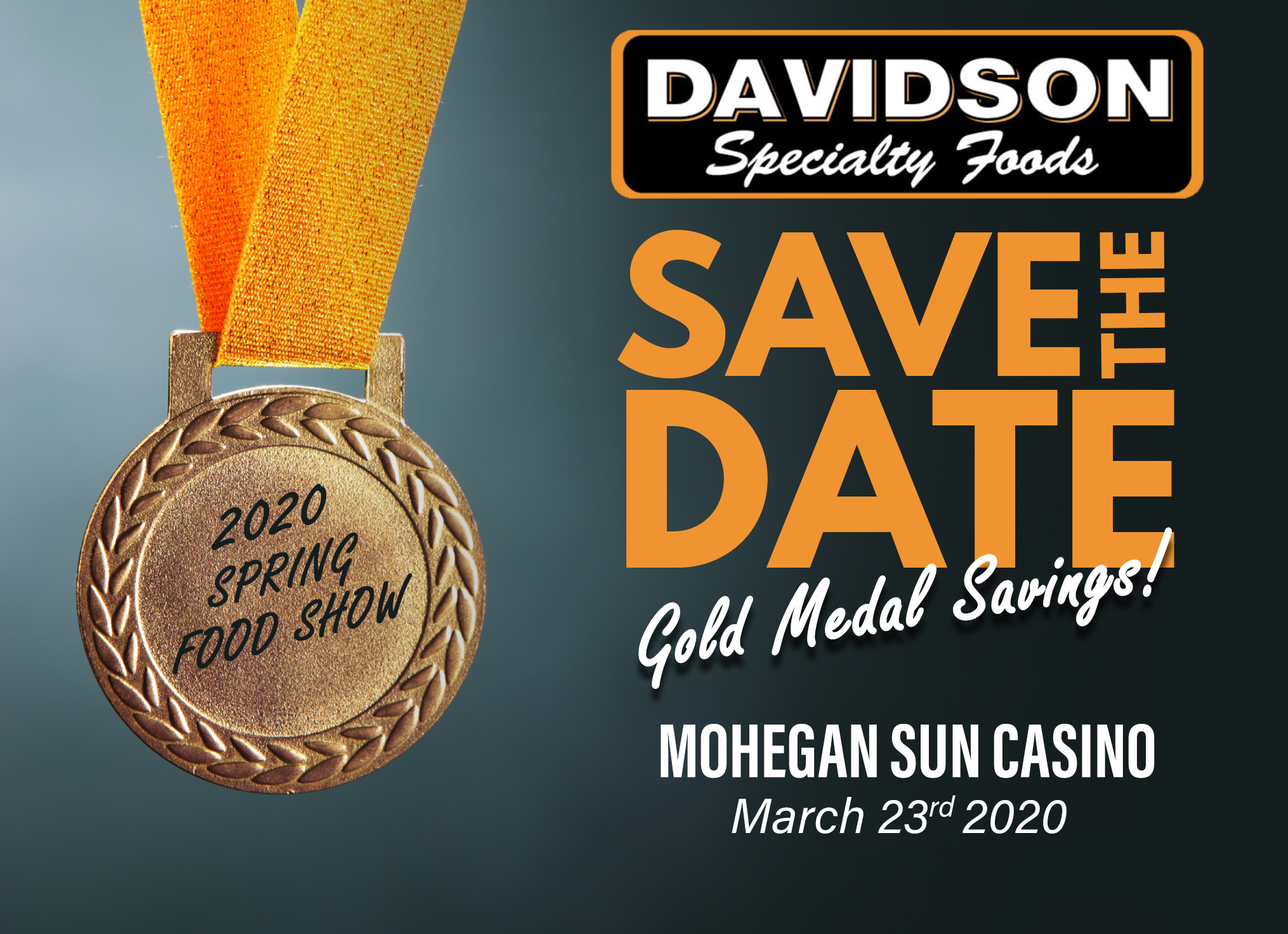 March 2020 Davidson Food Show Save the Date